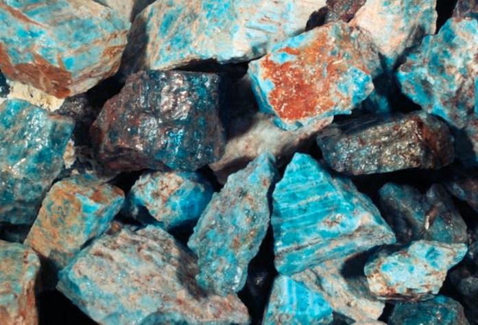 Blue Apatite - natural