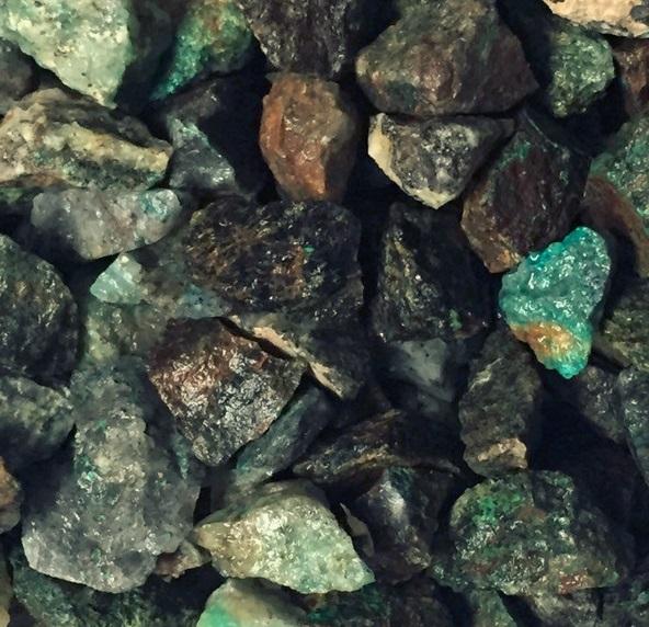 Chrysocolla - Malachite on Quartz - natural