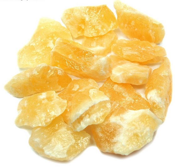 Orange Yellow Calcite - natural