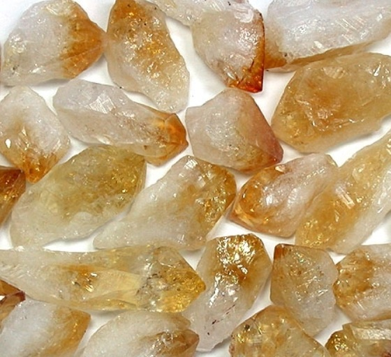 citrine - crystal points