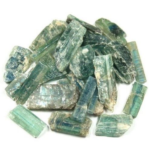 green kyanite - natural